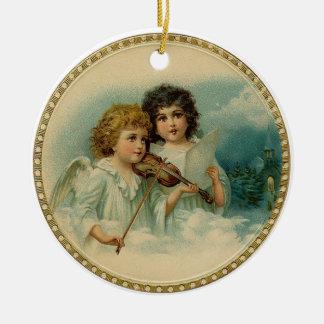 Vintage Engels-runde Verzierung Rundes Keramik Ornament