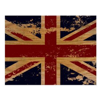 Vintage England-Flagge 2 Postkarte