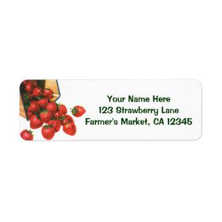 Vintage Erdbeeren im Korb,
