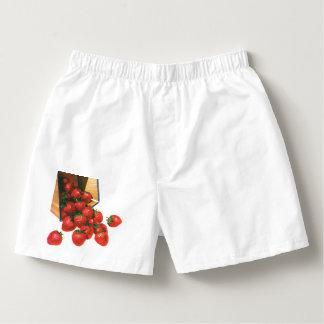 Vintage Erdbeeren im Korb, Herren-Boxershorts