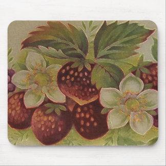 Vintage Erdbeeren Mousepad