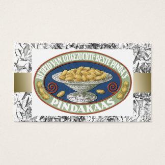 Vintage Erdnuss-Geschäfts-Karte Visitenkarte