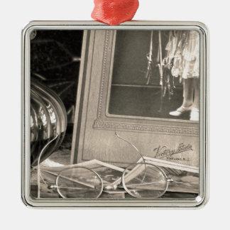 Vintage Erinnerungen Silbernes Ornament