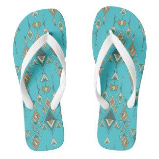 Vintage ethnische Stammes- aztekische Verzierung Flip Flops