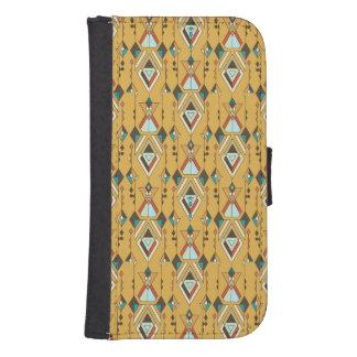 Vintage ethnische Stammes- aztekische Verzierung Geldbeutel Hülle Für Das Samsung Galaxy S4