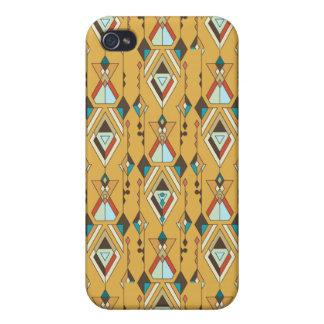 Vintage ethnische Stammes- aztekische Verzierung iPhone 4 Etui