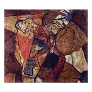 Vintage Expressionismus-Kunst, Qual durch Egon Poster