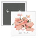 Vintage Fahnen-Team-Braut-mit Blumenbrautjungfer Anstecknadel