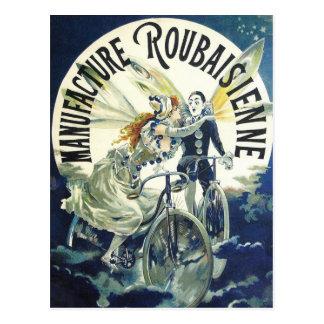 Vintage Fahrrad-Anzeige - radfahrend Postkarte