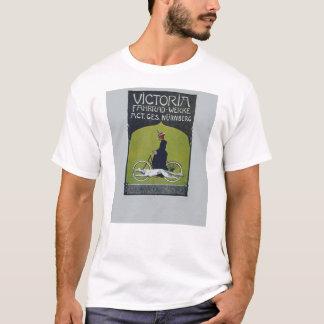 Vintage Fahrrad-Dame u. Hund T-Shirt