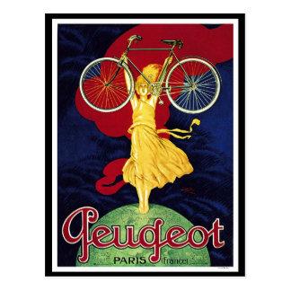 Vintage Fahrrad-Geschenke - Zyklen Peugeot Postkarte