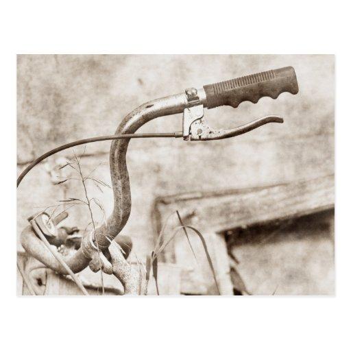 Vintage Fahrrad-Postkarte