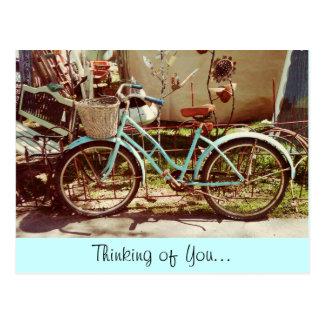 Vintage Fahrrad-Postkarte Postkarten