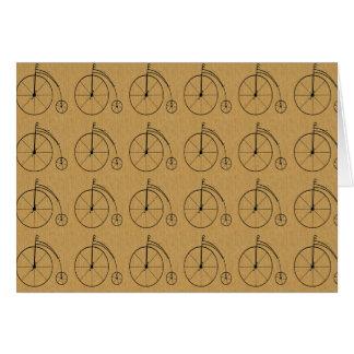 Vintage Fahrräder mit Ziegeln gedeckt Karte
