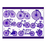 Vintage Fahrräder Postkarten