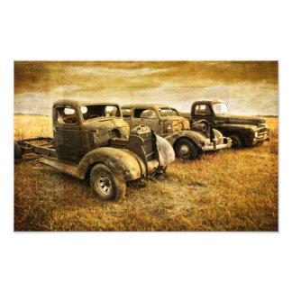 Vintage Fahrzeuge Fotodruck