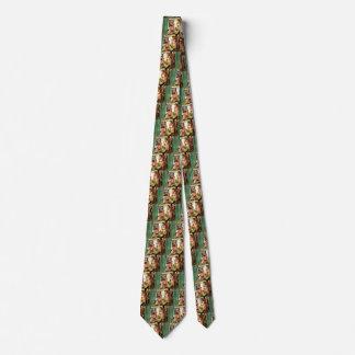 Vintage Familie im Küchen-Mamma-Vati scherzt Personalisierte Krawatten
