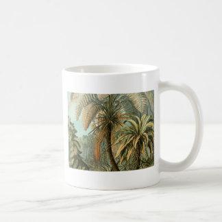 Vintage Farne und Palme botanisch Kaffeetasse
