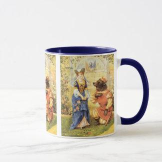 Vintage feenhafte Geschichte, Schönheit und das Tasse