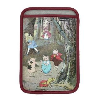 Vintage feenhafte Geschichten-Charaktere iPad Mini Sleeve