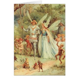 Vintage feenhafte Geschichten, Thumbelina und Karte