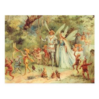 Vintage feenhafte Geschichten, Thumbelina und Postkarte