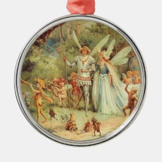 Vintage feenhafte Geschichten, Thumbelina und Silbernes Ornament