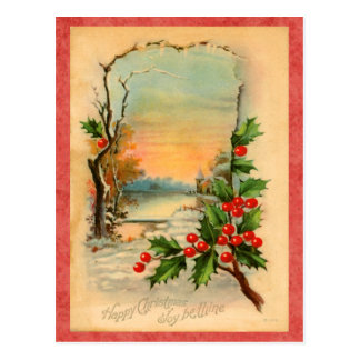 Vintage Feiertags-Postkarte