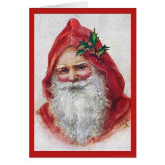 Vintage feine Kunst-Weihnachtskarte Sankt Karte