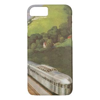 Vintage Ferien durch Zug, Lokomotive im Land iPhone 8/7 Hülle