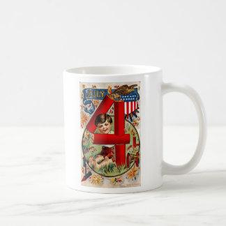Vintage Feuerwerke Julis vierter Kaffeetasse