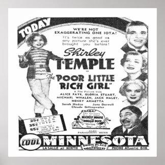 Vintage Film-Anzeige für Shirley Tempel Poster