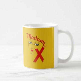 Vintage Film-Film-mutige grafische Frau Madame-X Kaffeetasse