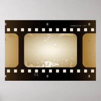 Vintage Film-Foto-Film-Streifen-Film-Rolle Posterdruck