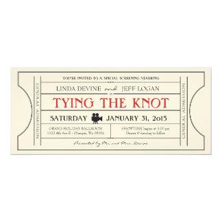 Vintage Film-Karten-Einladung 10,2 X 23,5 Cm Einladungskarte
