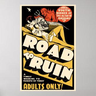 """Vintage Film-Plakat-Kunst - """"zu ruinieren Straße """" Poster"""
