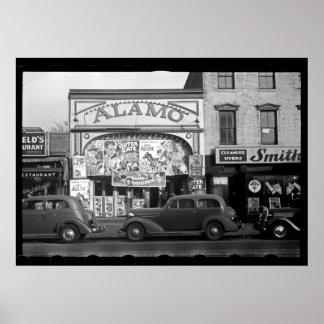 Vintage Film-Theater-Fotografie Poster
