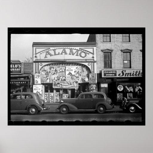 Vintage Film-Theater-Fotografie Plakatdruck