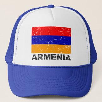 Vintage Flagge Armeniens Truckerkappe