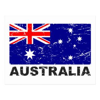 Vintage Flagge Australiens Postkarte