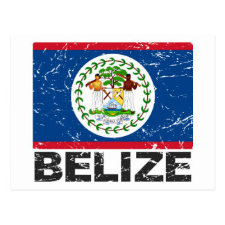 Vintage Flagge Belizes Postkarte