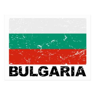 Vintage Flagge Bulgariens Postkarte