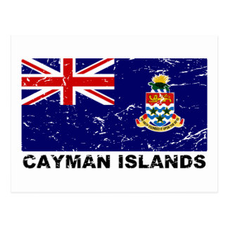 Vintage Flagge Cayman Islands Postkarte