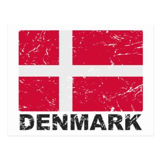 Vintage Flagge Dänemarks Postkarte