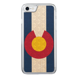 Vintage Flagge des Colorado-Damast-Musters Carved iPhone 8/7 Hülle