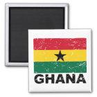 Vintage Flagge Ghanas Quadratischer Magnet