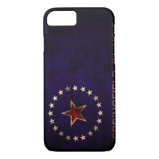 Vintage Flagge Grunge-Springfields Illinois iPhone 8/7 Hülle