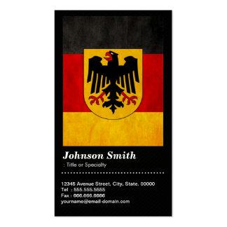 Vintage Flagge GrungeDeutschland Deutschland - QR Visitenkartenvorlagen