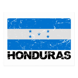 Vintage Flagge Hondurass Postkarte