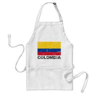 Vintage Flagge Kolumbiens Schürze